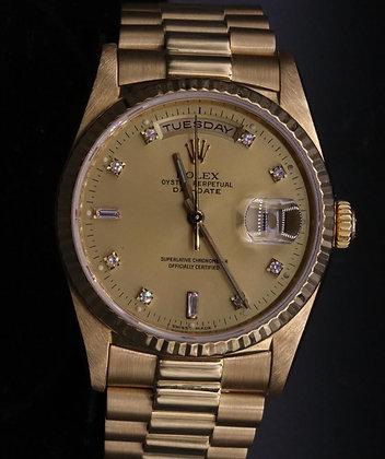 Daydate Used Roxel Watch 18k Yellow Gold