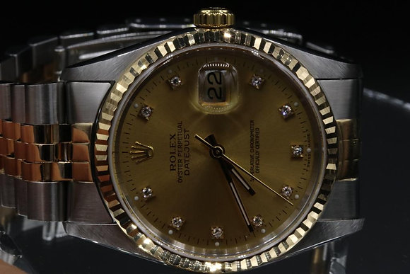 Datejust Used Rolex  2-tone steel and gold