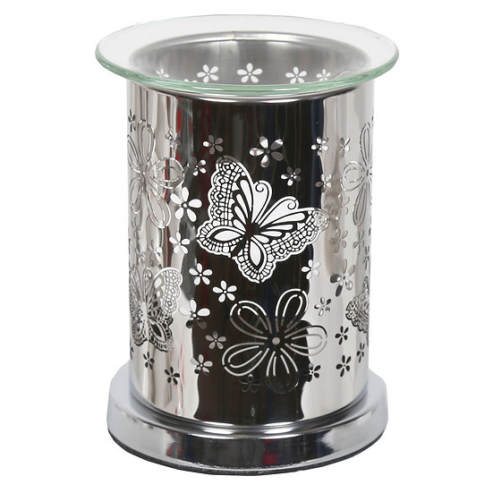 Chrome Butterfly Tealight Warmer