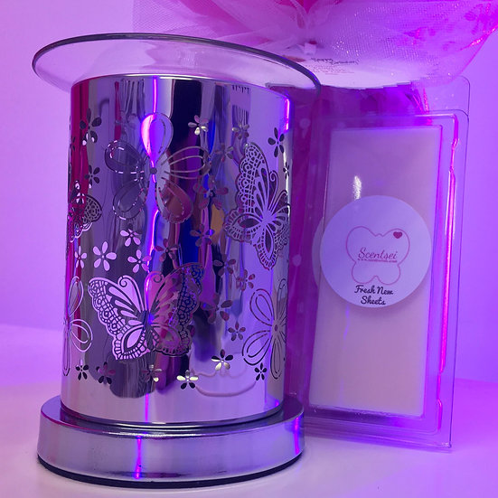 CLICK & COLLECT GIFT SET - Chrome Butterfly Warmer