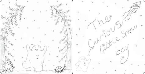 The curious little snow boy - Book cover