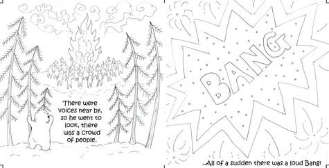 The curious little snow boy, pg 15 & 16