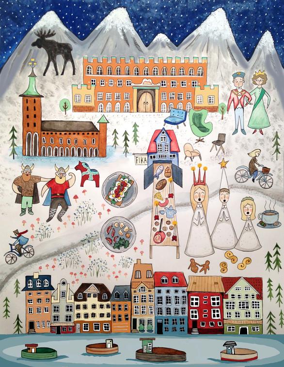 Sweden Art Board