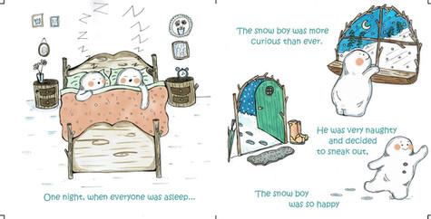 The curious little snow boy, pg 9 & 10