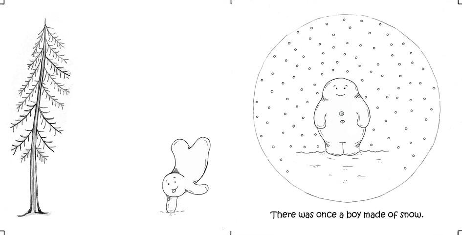 The curious little snow boy, pg 1 & 2