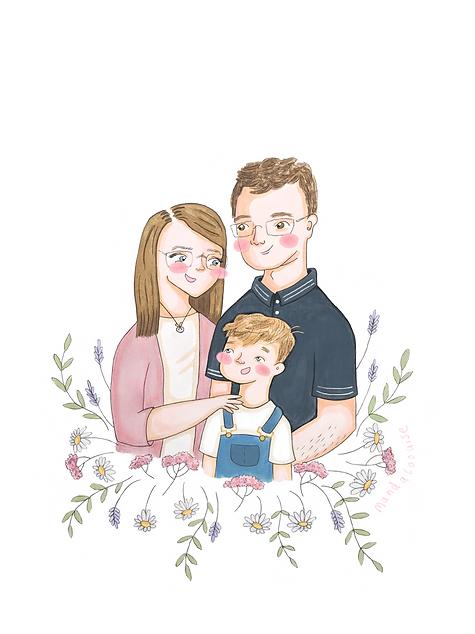 Family Half Body