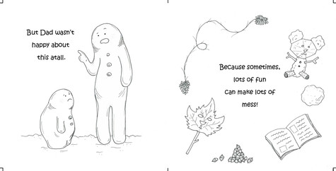 The curious little snow boy, pg 5 & 6