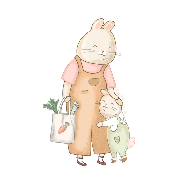 Bunny Mummy, Mother's Day + Easter - England/ Europe