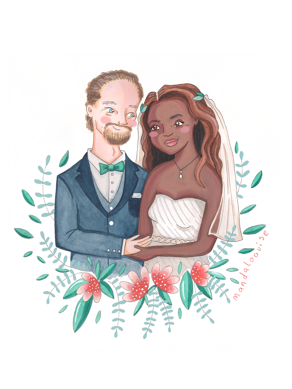 Wedding Half Body