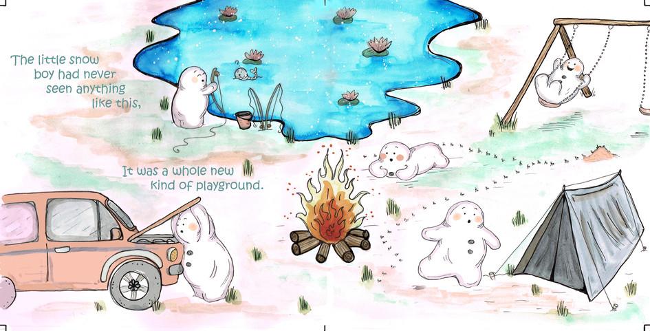 The curious little snow boy, pg 13 & 14