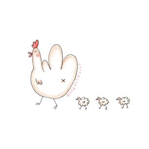 Hen mum + Chicks, Easter - Europe