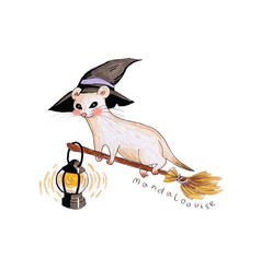 Day 20 - Ermine/ Stoat Witch