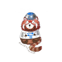 Day 8 - R2-D2 Red Panda