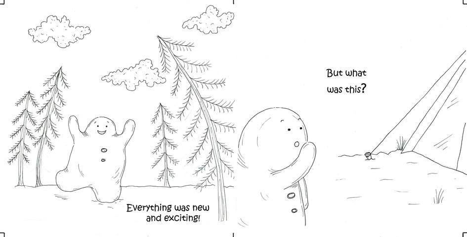 The curious little snow boy, pg 7 & 8