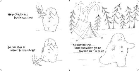The curious little snow boy, pg 21 & 22