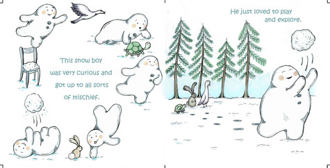 The curious little snow boy, pg 3 & 4