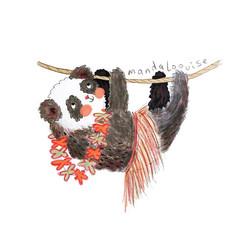 Day 21 - Hawaiian Hula Skirt Panda