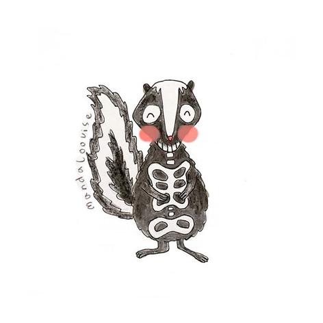 Day 1- Skeleton Skunk