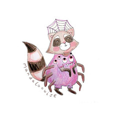 Day 27 - Spider Raccoon