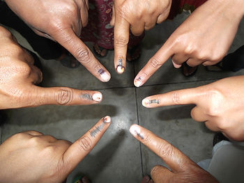 Elections in Uttar Pradesh.Voting for government. Lawrence Homan Lucknow