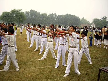 Fit and Healthy Studetns participate in Sports day in Bakshi ka Talab