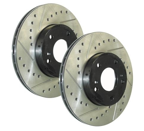 350Z G35 Genuine Stop Tech Front Drilled & Slotted Rotors Pair