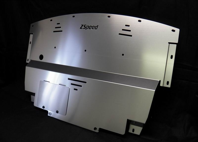 ZSpeed G35S G37 V2 Aluminum Under Shroud Engine Splash Shield