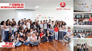 I Semana da Matemática Afonso Andrade com a turminha do 9º ano do Ensino Fundamental II