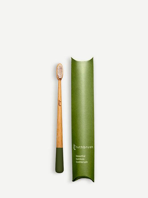 The Truthbrush Bamboo Toothbrush - Moss Green