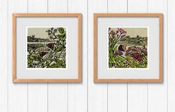 Max-Angus-Lino-Cut-Prints-Butterflies