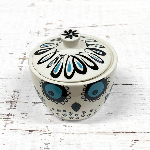 Hannah Turner Owl Sugar Bowl with Lid