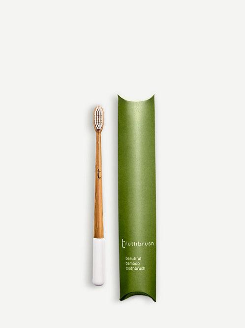 The Truthbrush Bamboo Toothbrush - Cloud White
