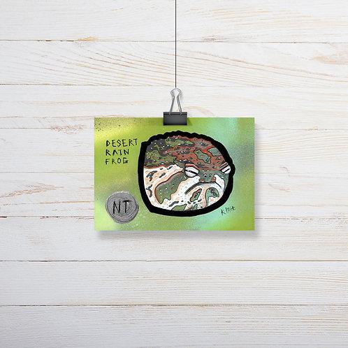 Kieran Page 'Desert Rain Frog' A6 Original Artwork