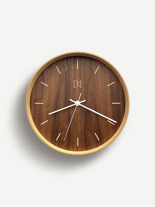Jeffrey Knight Walnut Wall Clock