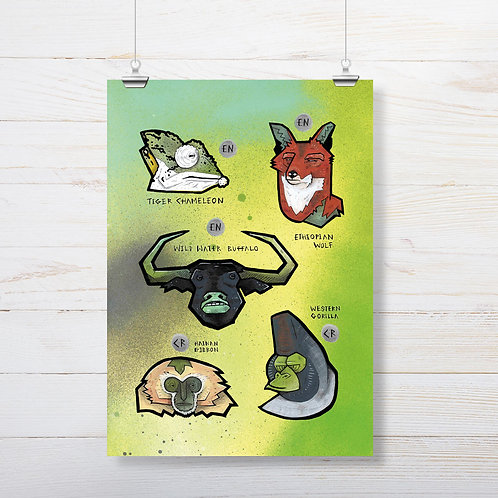 Kieran Page 'Wolf' A3 Print