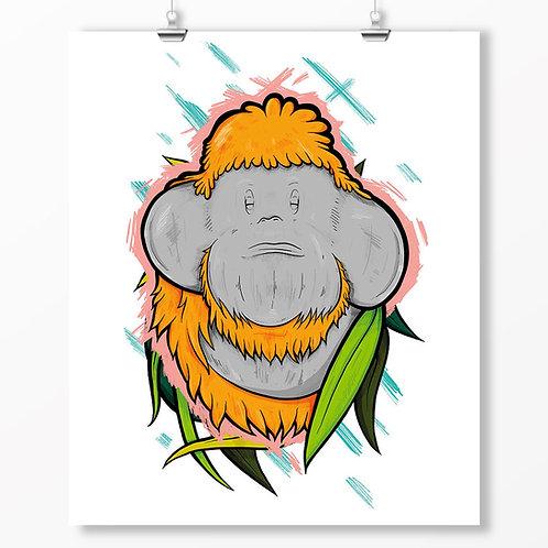 Kieran Page Orangutang A1 Print