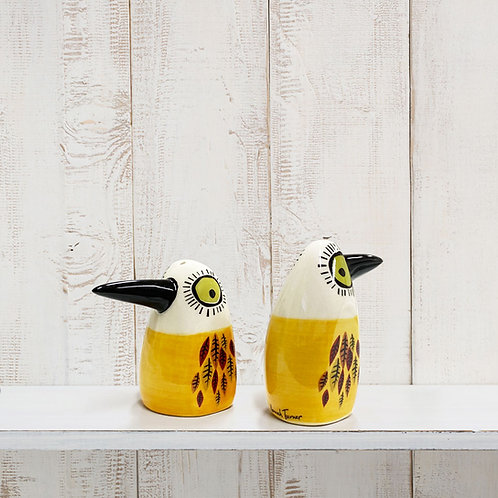 Yellow Bird Salt and Pepper Shakers