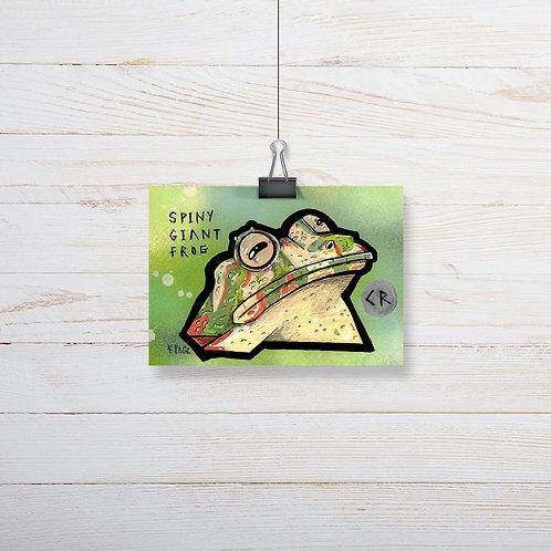 Kieran Page 'Spiny Giant Frog' A6 Original Artwork