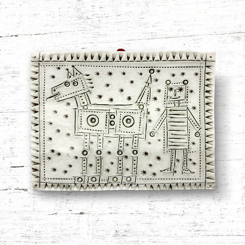 Cathy D'Arcy Robot and Dog Tile