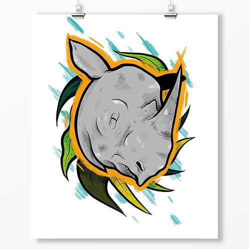 Kieran Page Sumatran Rhino A1 Print