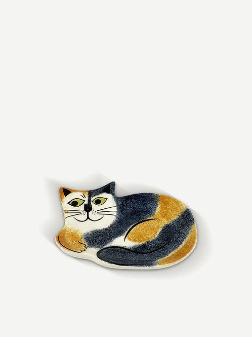 Hannah Turner Tortoiseshell Cat Trinket Dish