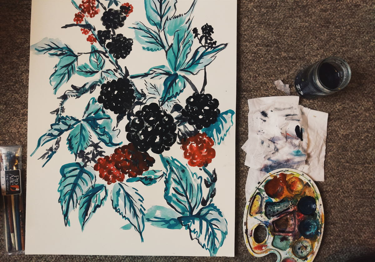 2015-11-06 Blackberry Painting