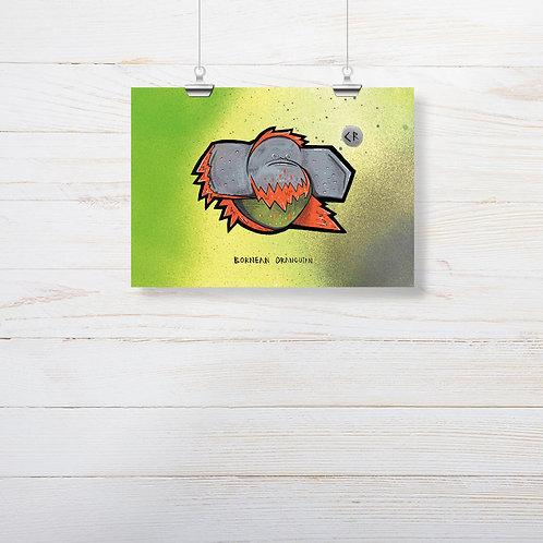 Kieran Page 'Orangutang' A5 Print
