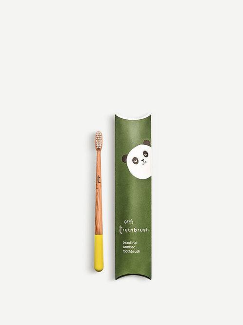 The Truthbrush Tiny Bamboo Toothbrush for Children - Sunshine Yellow