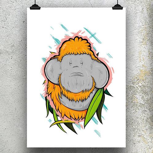 Kieran Page Orangutang A3 Print
