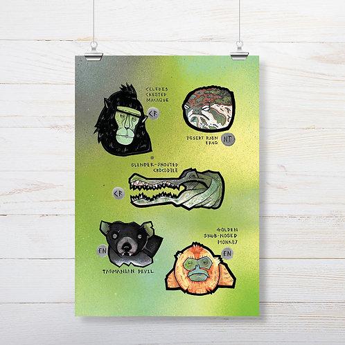 Kieran Page 'Macaque' A3 Print