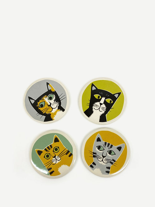 Hannah Turner Cat Coasters