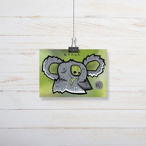 Kieran Page 'Koala' A6 Original Artwork