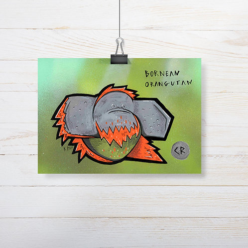 Kieran Page 'Orangutan' A5 Original Artwork