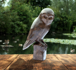 Barn-Owl-Study-(Bronze-Resin)-02